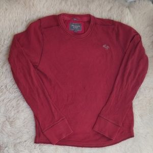 Abercrombie and Fitch Waffle Red Muscle Shirt XXL